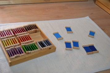 Montessori color tablets