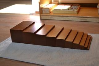 Montessori brown stairs