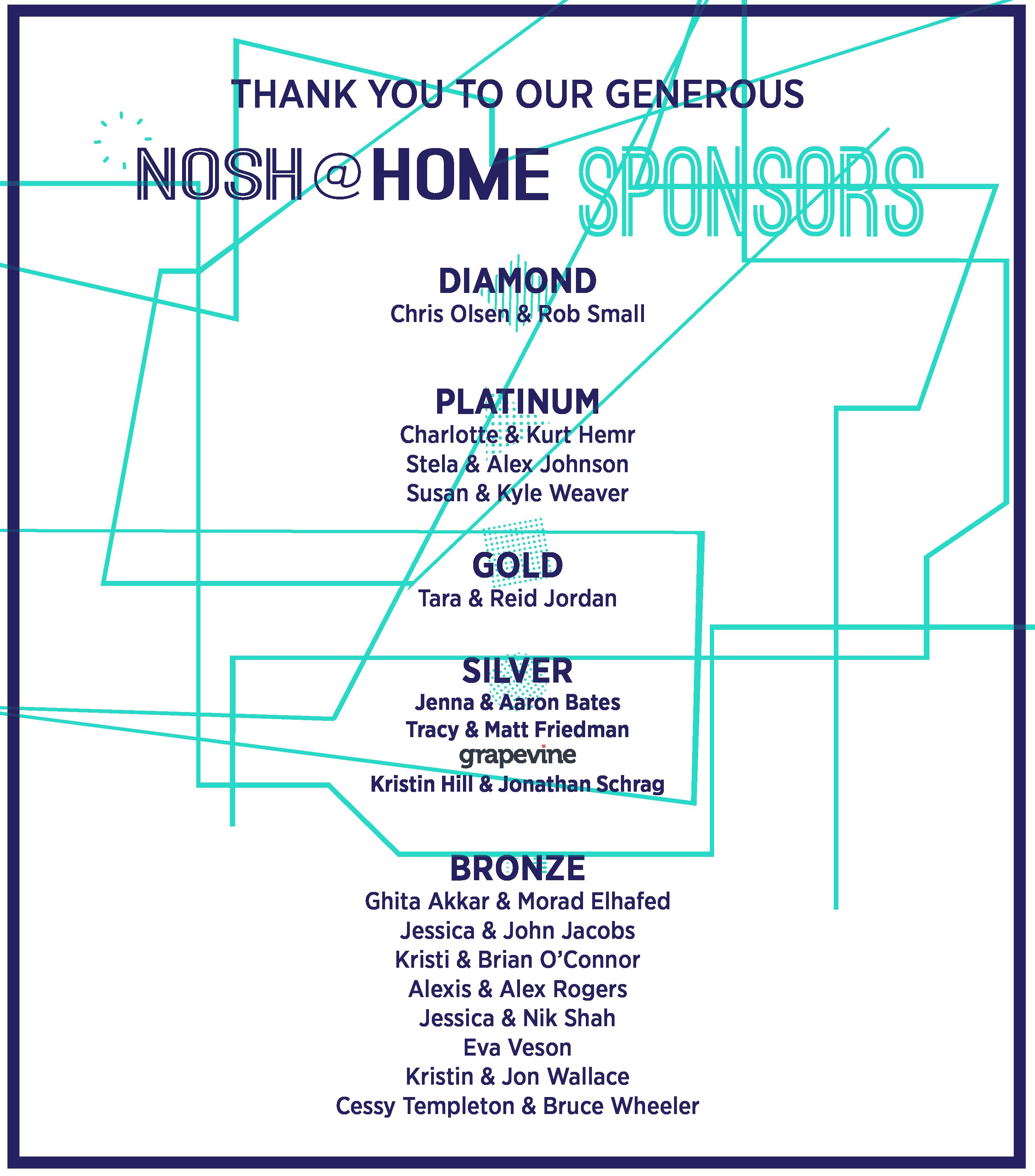 Sponsors as of 4-30 at 1125-33